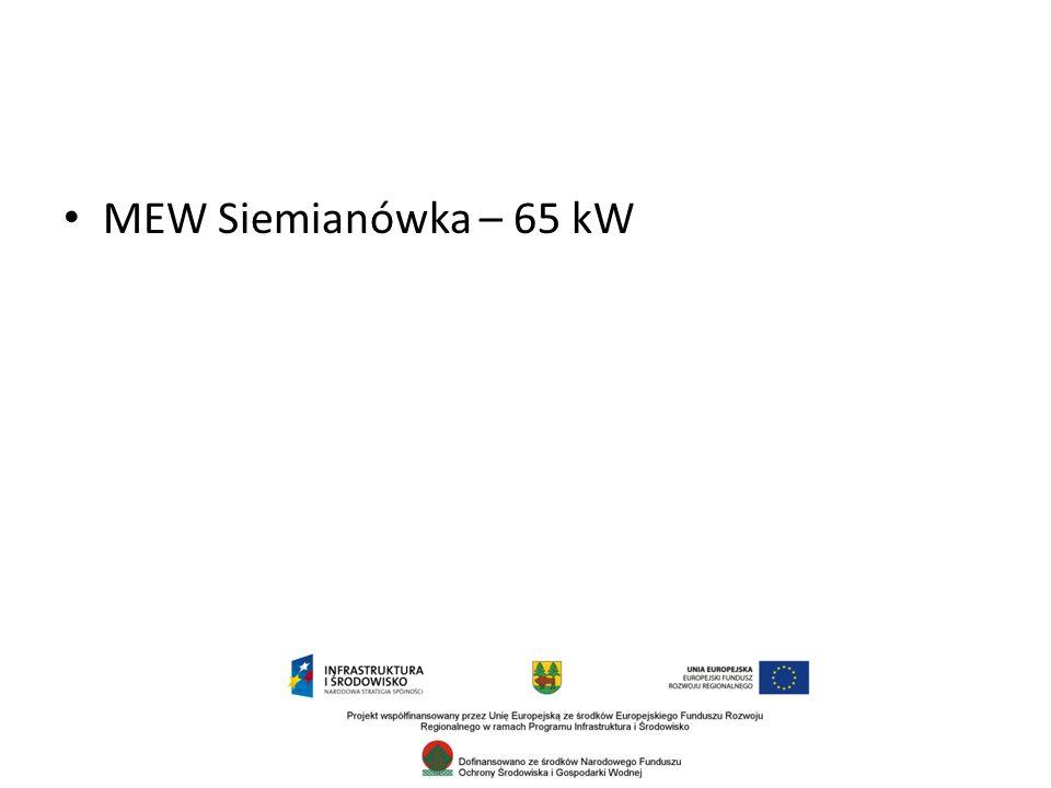 MEW Siemianówka – 65 kW