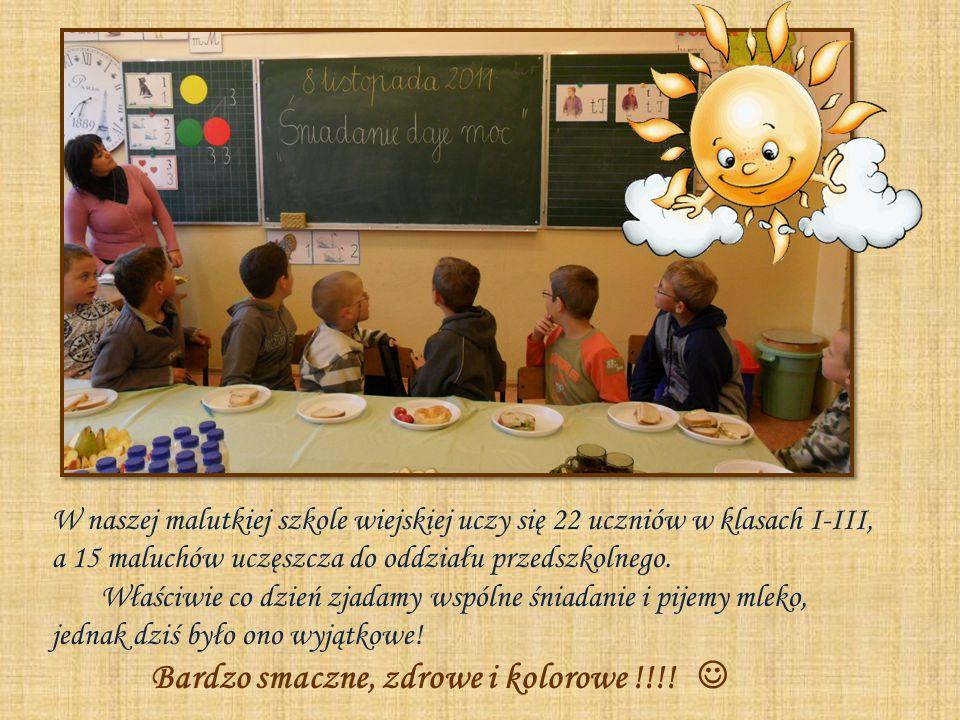 W naszej malutkiej szkole wiejskiej uczy się 22 uczniów w klasach I-III, a 15 maluchów uczęszcza do oddziału przedszkolnego.