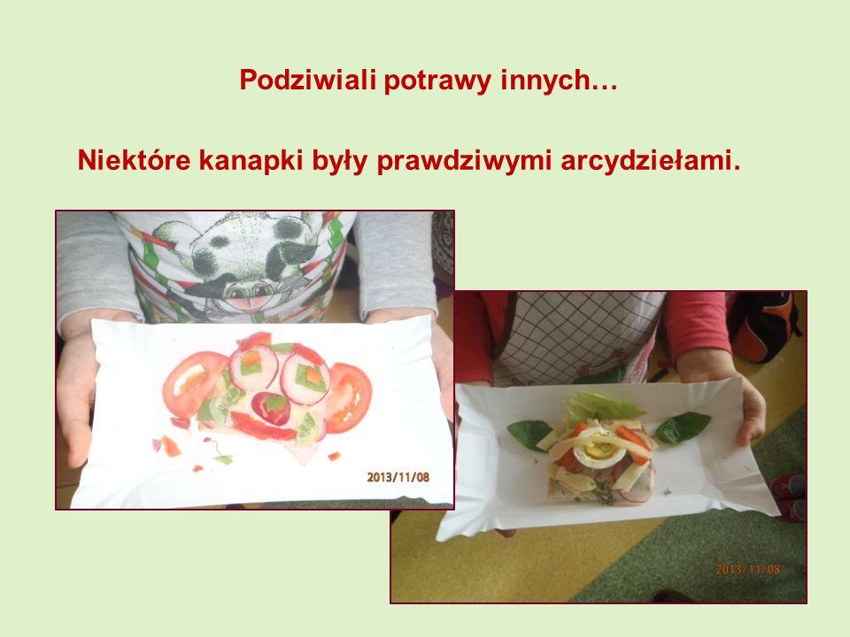 Niektóre kanapki były prawdziwymi arcydziełami. Podziwiali potrawy innych…