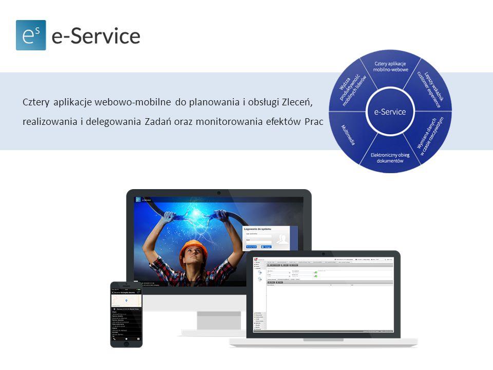 Cztery aplikacje webowo-mobilne do planowania i obsługi Zleceń, realizowania i delegowania Zadań oraz monitorowania efektów Prac
