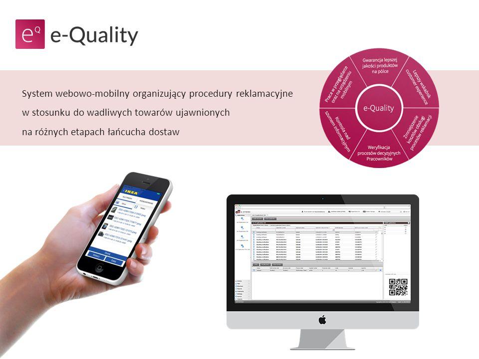System webowo-mobilny organizujący procedury reklamacyjne w stosunku do wadliwych towarów ujawnionych na różnych etapach łańcucha dostaw