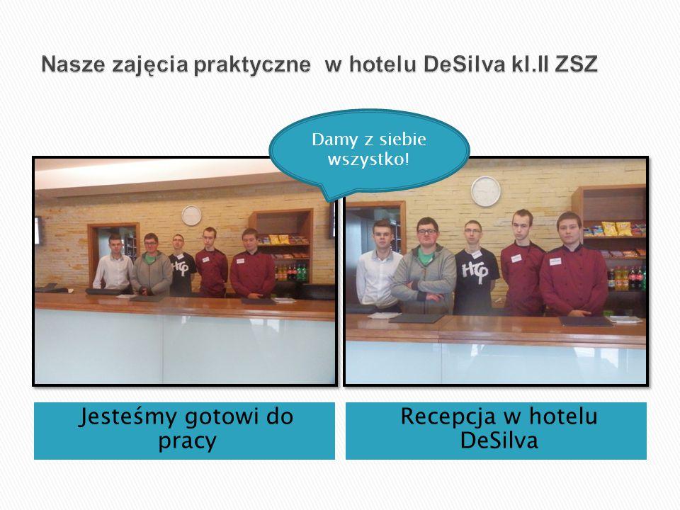 Jesteśmy gotowi do pracy Recepcja w hotelu DeSilva Damy z siebie wszystko!
