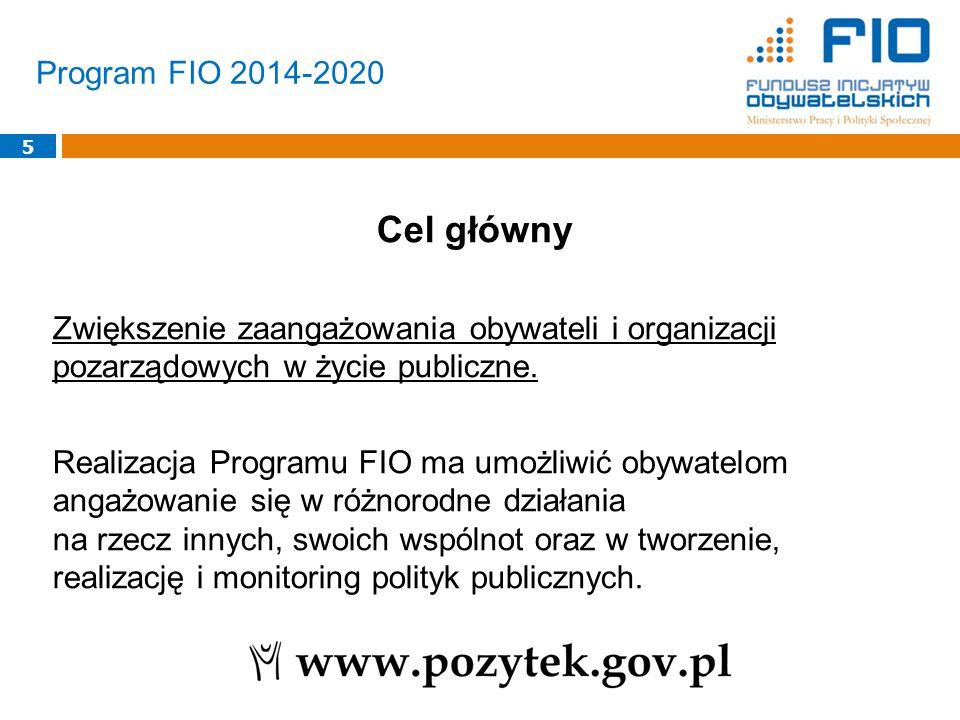 5 Cel główny Zwiększenie zaangażowania obywateli i organizacji pozarządowych w życie publiczne.