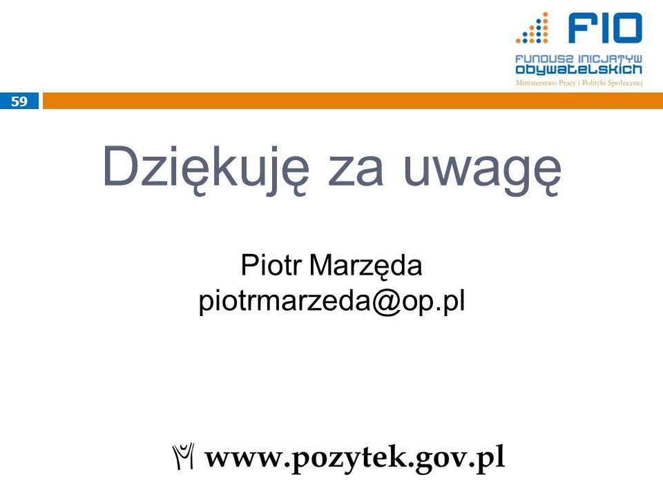 Dziękuję za uwagę Piotr Marzęda piotrmarzeda@op.pl 59