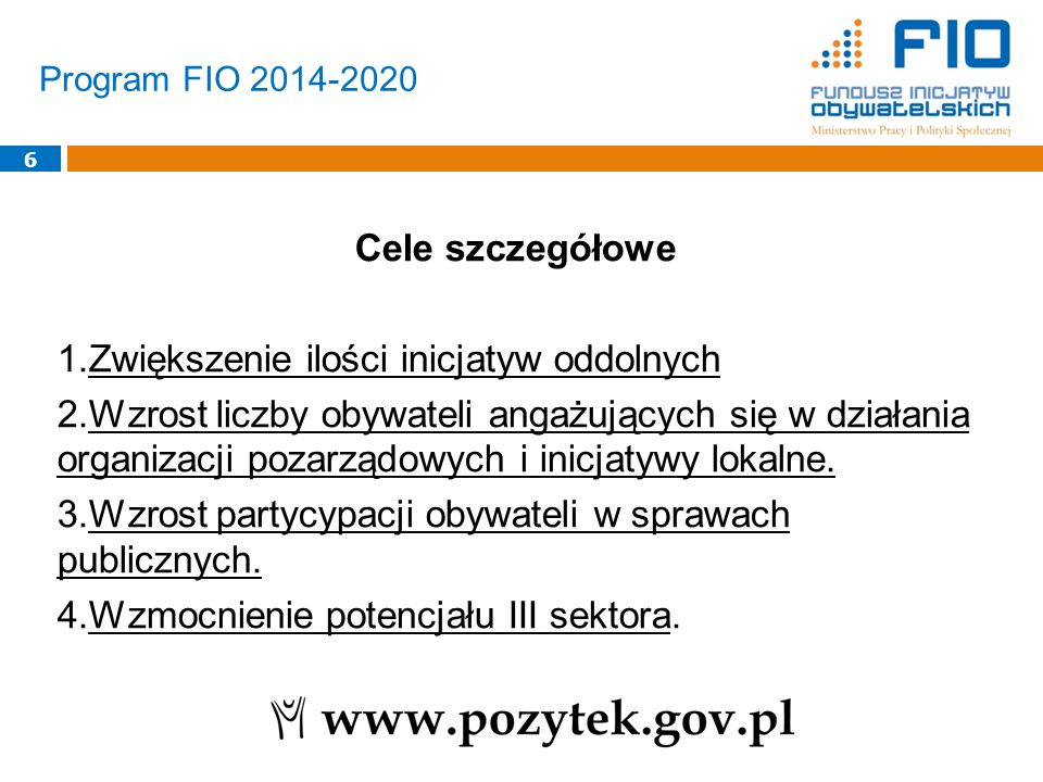 Program FIO 2014-2020 7 Priorytet 1.