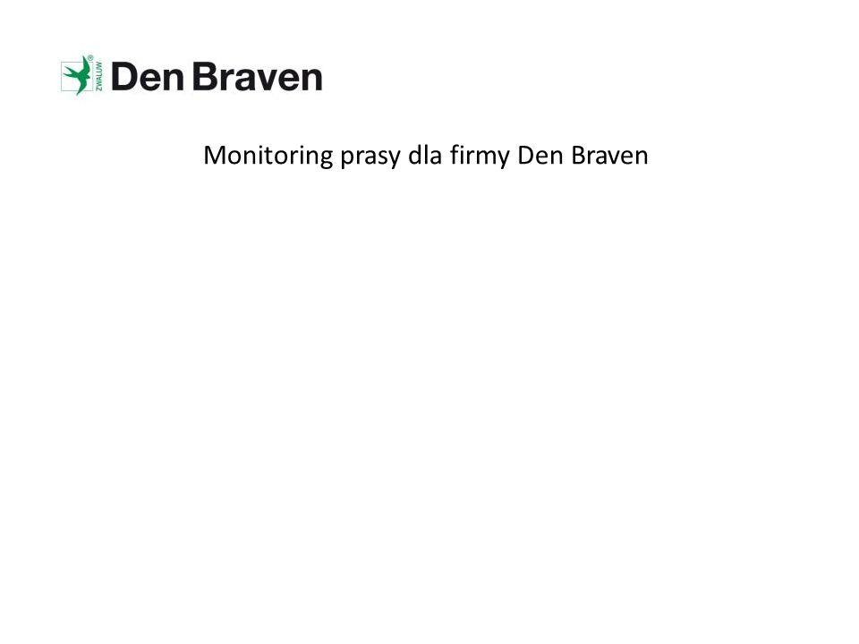 Monitoring prasy dla firmy Den Braven
