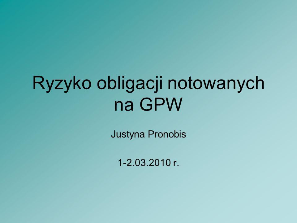 2 Plan prezentacji Rodzaje ryzyka Klasyfikacja obligacji Wnioski
