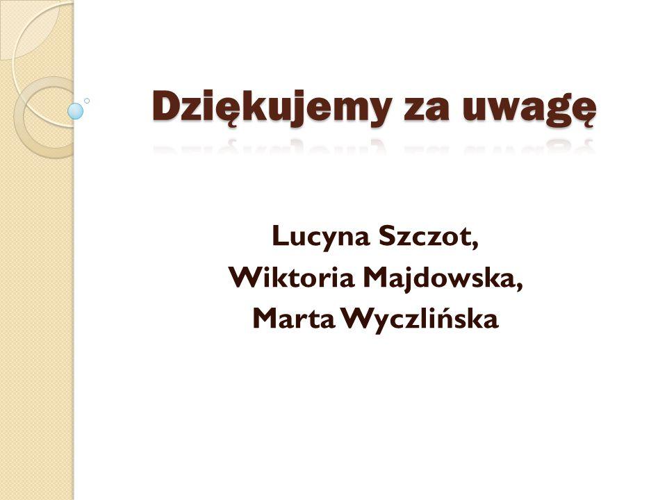 Lucyna Szczot, Wiktoria Majdowska, Marta Wyczlińska