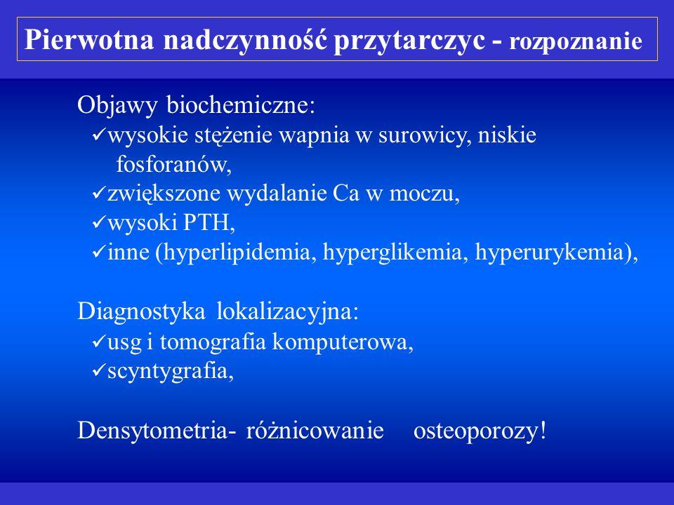 Rozpoznanie różnicowe hyperkalcemii: nowotwory wywołujące osteolizę (najczęściej): hyperkalcemia z niskim PTH, hiperkalcemia wywołana lekami: zatrucie vit.