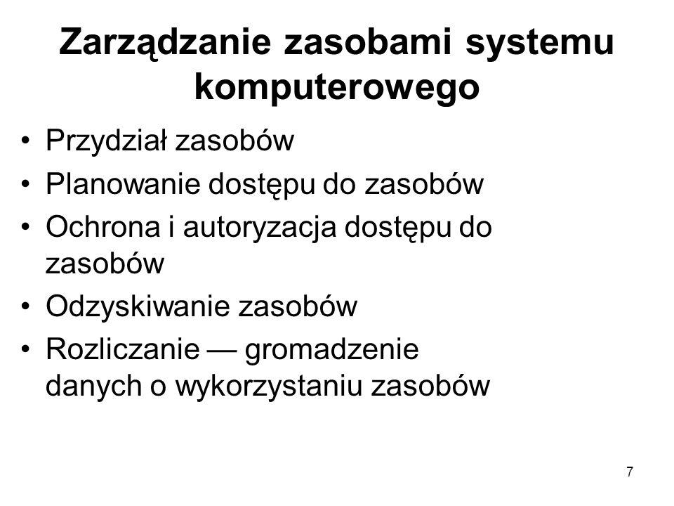 88 Synchronizacja procesów z zastosowaniem semafora process P1; (* waiting process *) statement X; wait (consyn) statement Y; end P1; process P2; (* signalling proc *) statement A; signal (consyn) statement B; end P2; var consyn : semaphore (* init 0 *)