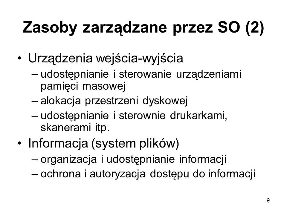 10 Klasyfikacja systemów operacyjnych ze względu na sposób przetwarzania Systemy przetwarzania bezpośredniego (ang.