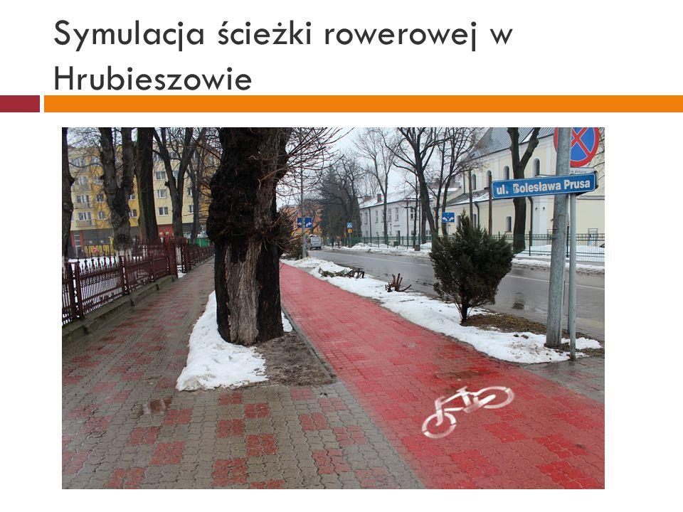 Symulacja ścieżki rowerowej w Hrubieszowie
