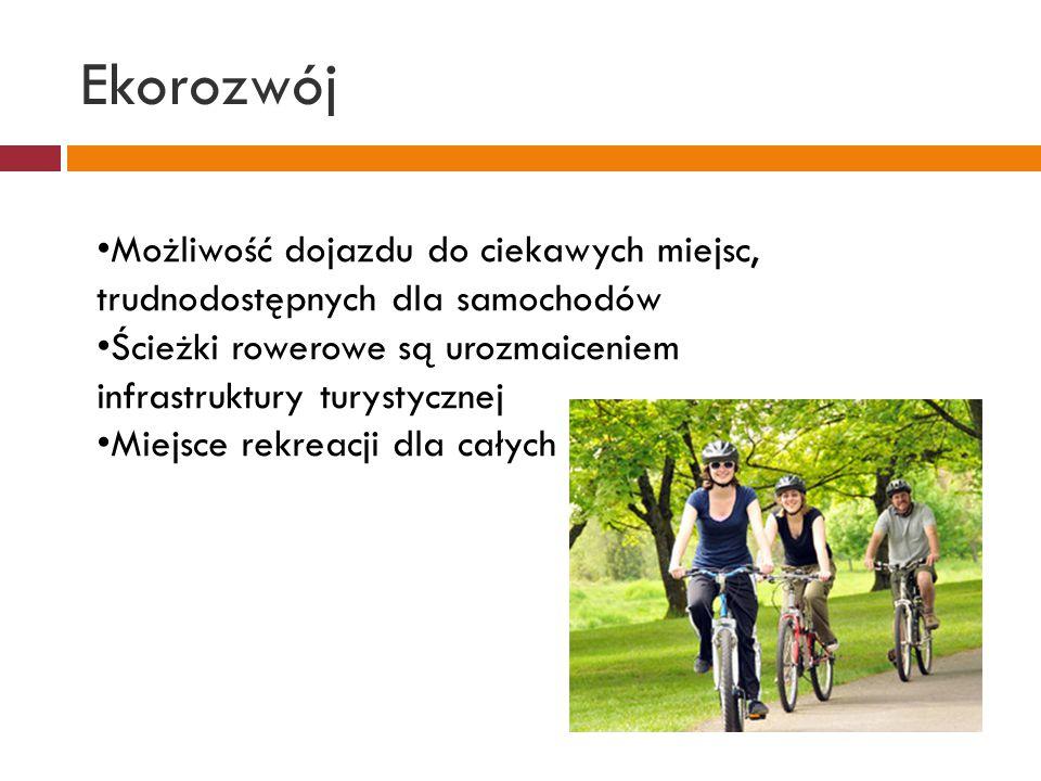 """Ekorozwój Pomoc w oswojeniu się z ruchem drogowym Poprawienie """"żywotności i komfortu przemieszczania się osób starszych Większa możliwość zaparkowania roweru w godzinach szczytu"""