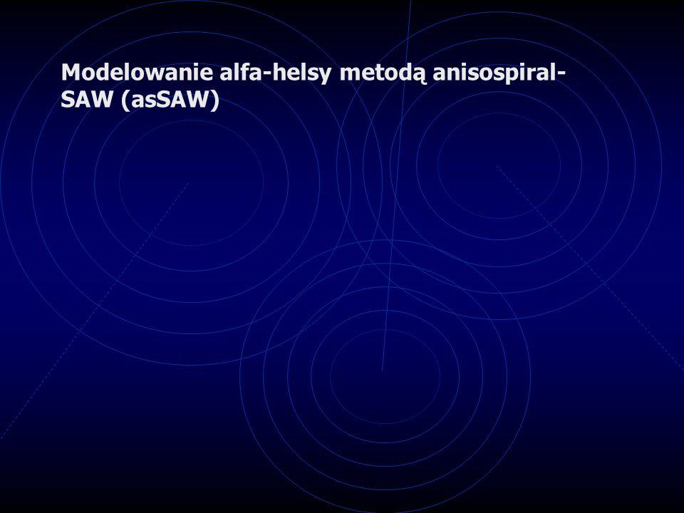 Modelowanie alfa-helsy metodą anisospiral- SAW (asSAW)