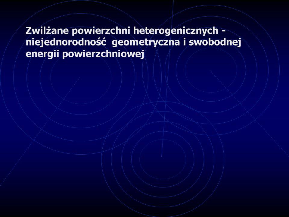 Zwilżane powierzchni heterogenicznych - niejednorodność geometryczna i swobodnej energii powierzchniowej