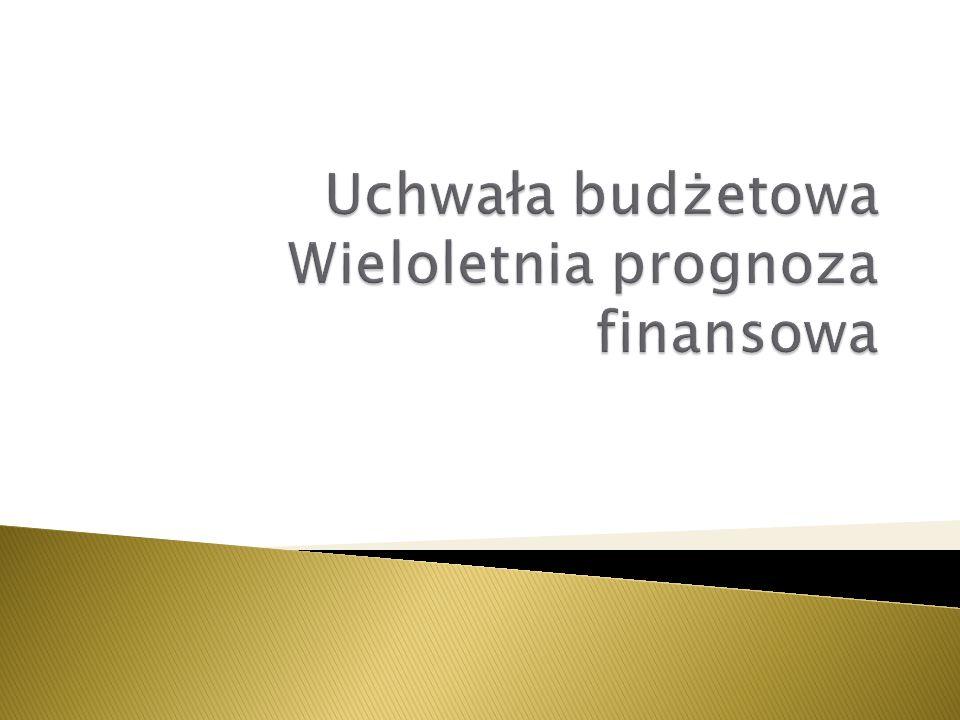  Wieloletnia prognoza finansowa sporządzana jest na 4 lata budżetowe.