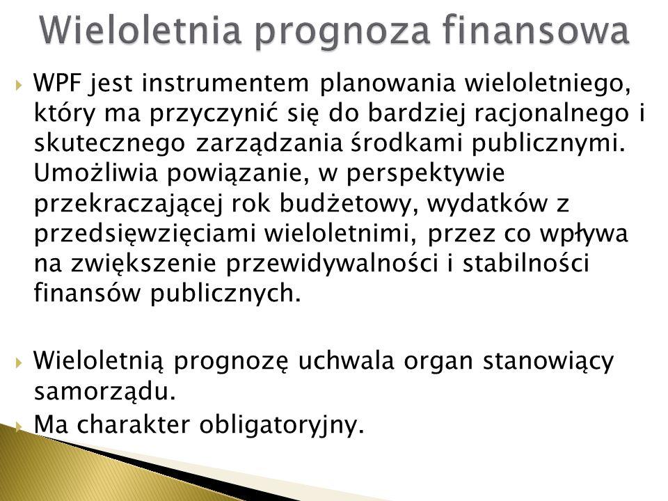  WPF jest instrumentem planowania wieloletniego, który ma przyczynić się do bardziej racjonalnego i skutecznego zarządzania środkami publicznymi. Umo