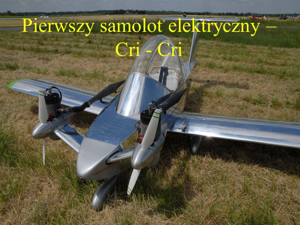 Pierwszy samolot elektryczny – Cri - Cri