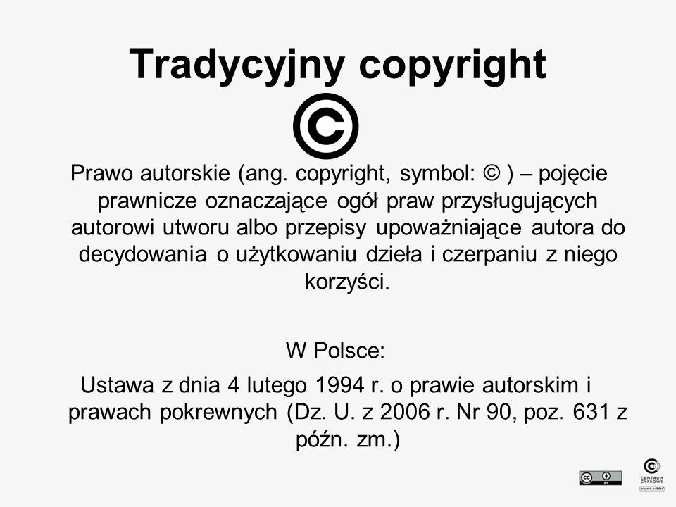 Wolne/otwarte Wolne /domena publiczna Pewne prawa zastrzeżone