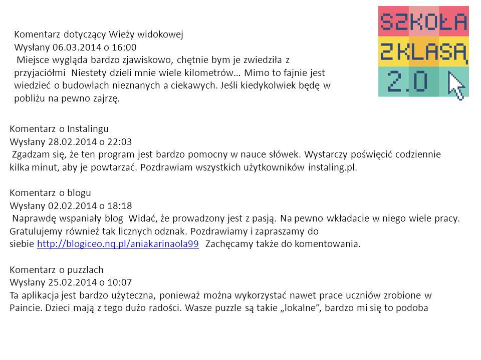 Komentarz o Instalingu Wysłany 28.02.2014 o 22:03 Zgadzam się, że ten program jest bardzo pomocny w nauce słówek.