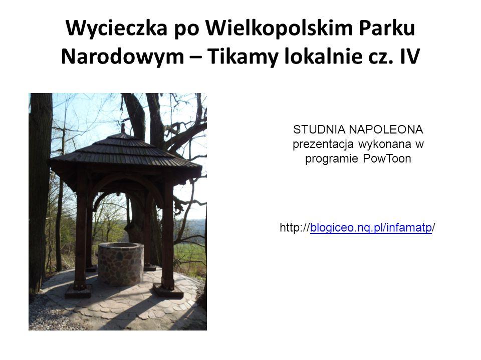Wycieczka po Wielkopolskim Parku Narodowym – Tikamy lokalnie cz. IV STUDNIA NAPOLEONA prezentacja wykonana w programie PowToon http://blogiceo.nq.pl/i