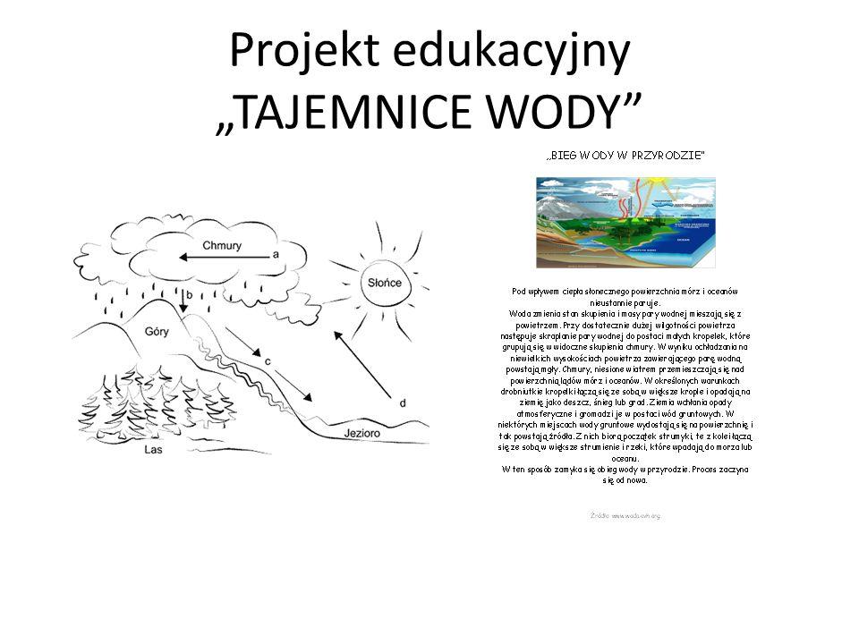 """Projekt edukacyjny """"TAJEMNICE WODY"""""""