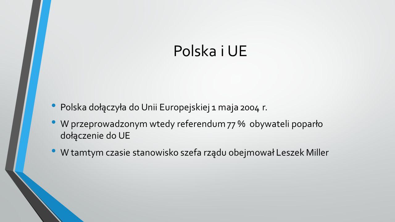 Polska i UE Polska dołączyła do Unii Europejskiej 1 maja 2004 r.