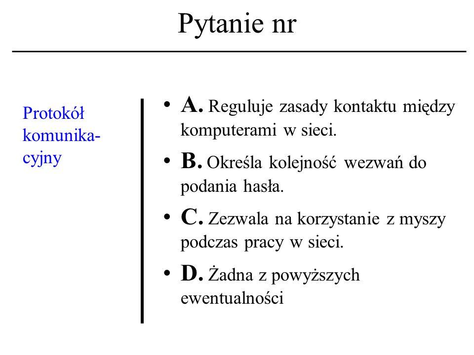Pytanie nr Pojęcie: 'społeczeństwo informacyjne' A.