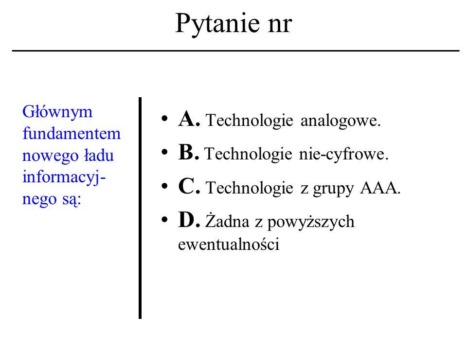 Pytanie nr HTML A. To skrót nazwy głównego serwera WWW.