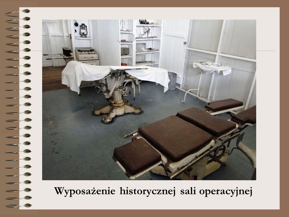 Wyposażenie historycznej sali operacyjnej