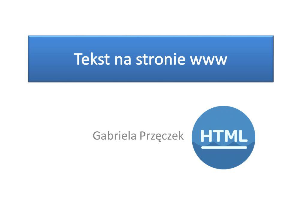 Gabriela Przęczek