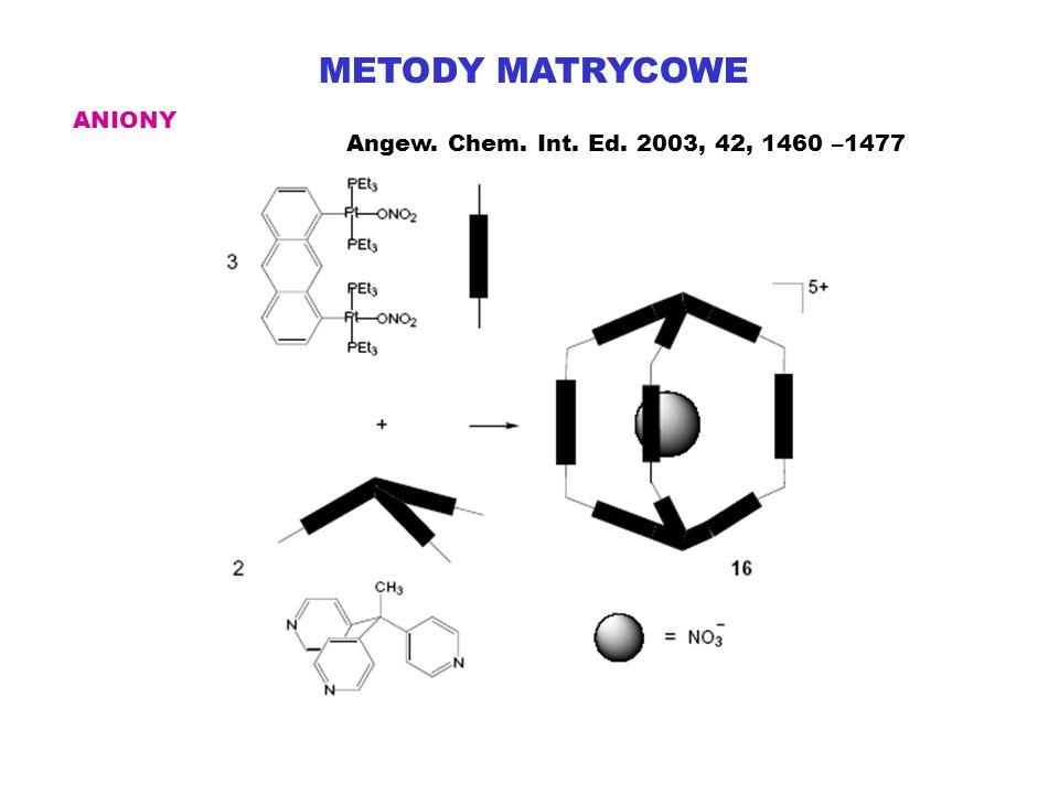 METODY MATRYCOWE ANIONY Angew. Chem. Int. Ed. 2003, 42, 1460 –1477