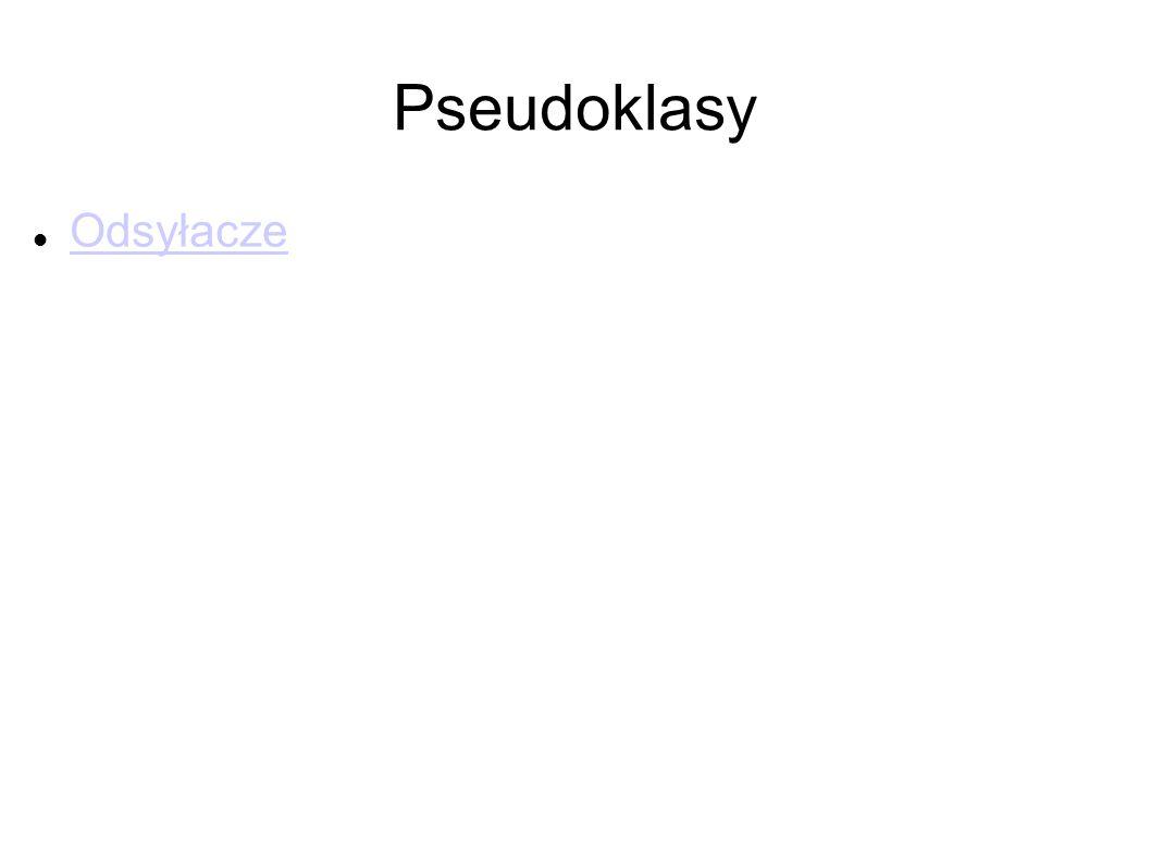 Pseudoklasy Odsyłacze