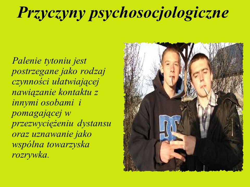 - Pierwsza grupa obejmuje przyczyny psychosocjologiczne. - Druga grupa to przyczyny farmakologiczne.