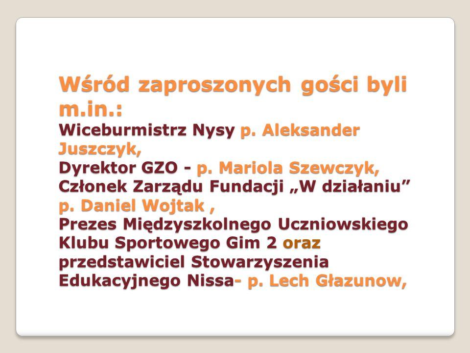 Redaktor Regionalnej Telewizji Opolskie – p.Tomasz Perfikowski, Dyrektor Gimnazjum nr 2- p.