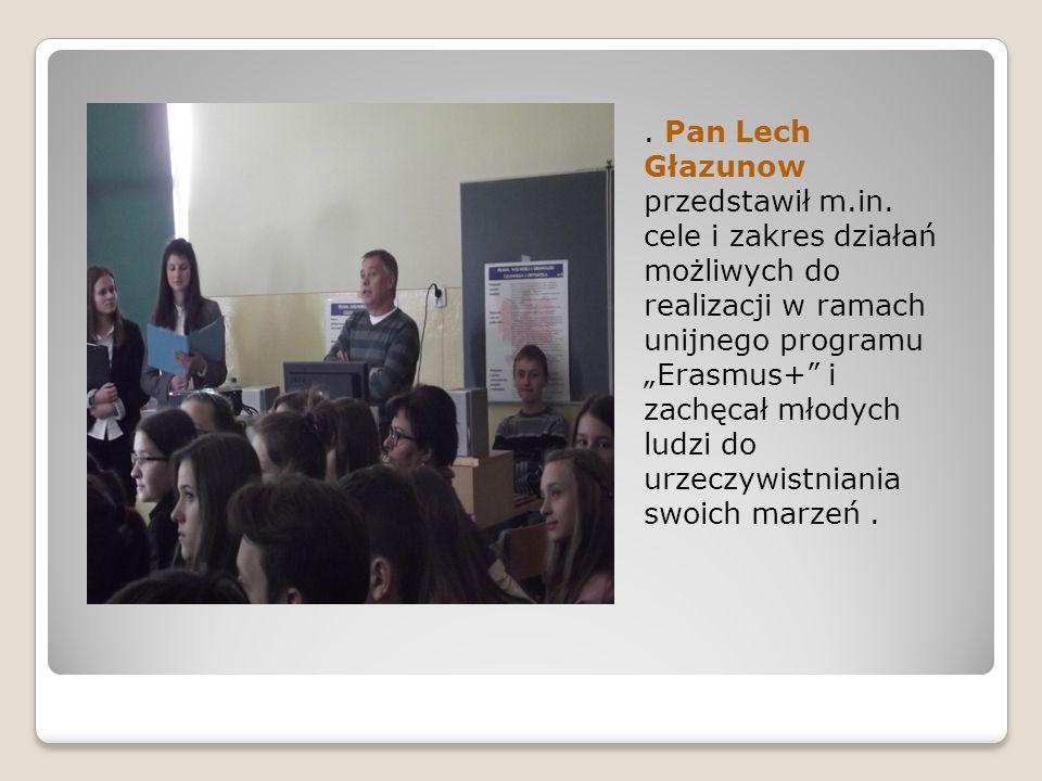 Pan Lech Głazunow przedstawił m.in.