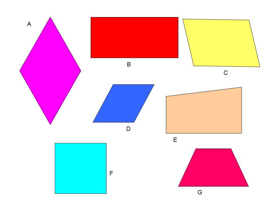 Odpowiedź:  Prostokąt przedstawiono na rys. B,  kwadrat na rysunku F.