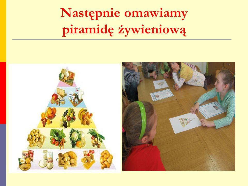 Następnie omawiamy piramidę żywieniową