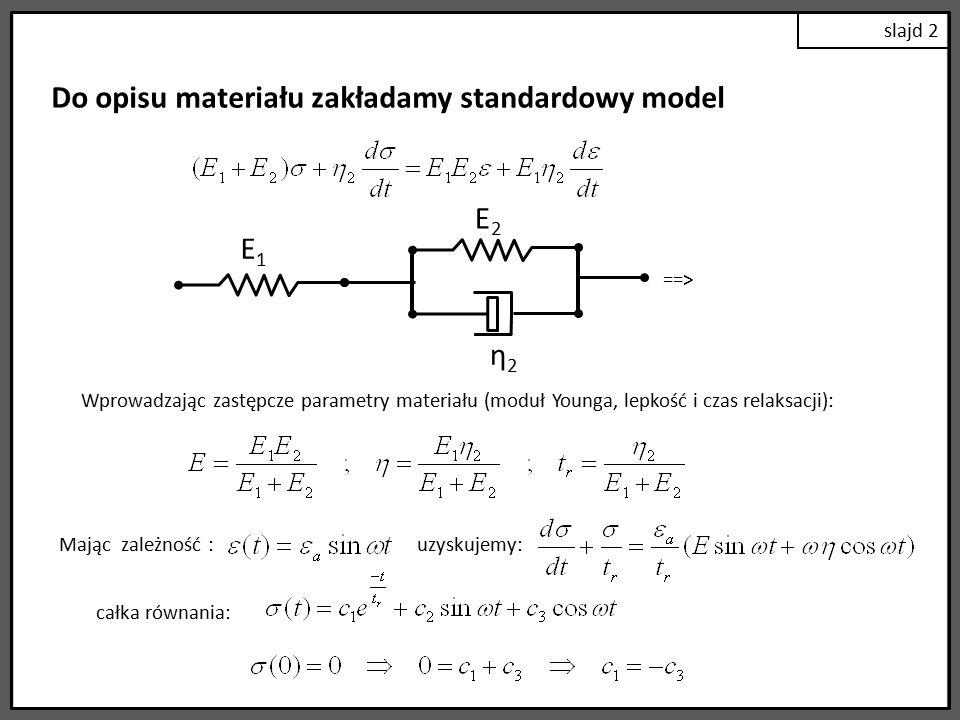 slajd 3 Z równania stanu: Porównując wyrażenia w nawiasach: Przekształcając: i podstawiając za: kąt przesunięcia fazowego