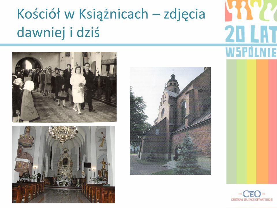Kościół w Książnicach – zdjęcia dawniej i dziś Dawne wnętrze kościoła.