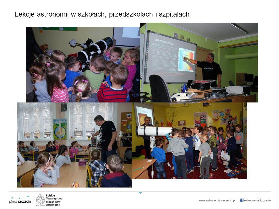 Lekcje astronomii w szkołach, przedszkolach i szpitalach