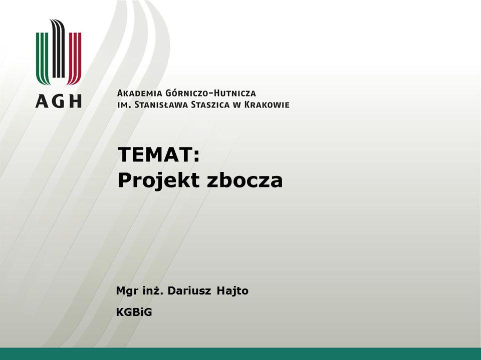Mechanika gruntów - projekt Temat: Projekt skarpy nasypu drogowego o zadanej wysokości oraz układzie warstw geologicznych.