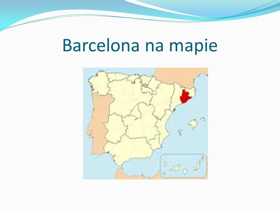 Barcelona na mapie