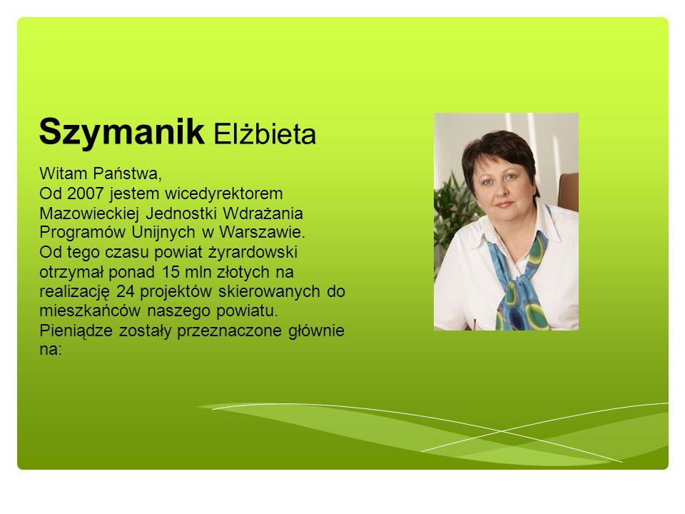 Witam Państwa, Od 2007 jestem wicedyrektorem Mazowieckiej Jednostki Wdrażania Programów Unijnych w Warszawie.
