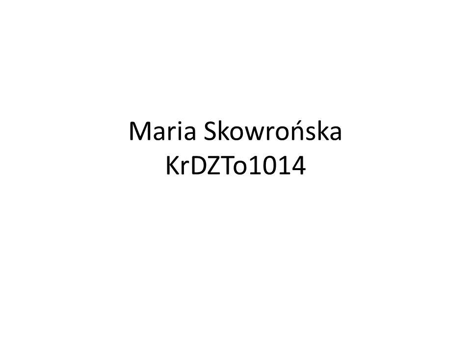 Maria Skowrońska KrDZTo1014