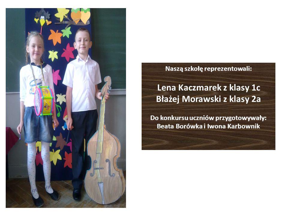 Naszą szkołę reprezentowali: Lena Kaczmarek z klasy 1c Błażej Morawski z klasy 2a Do konkursu uczniów przygotowywały: Beata Borówka i Iwona Karbownik