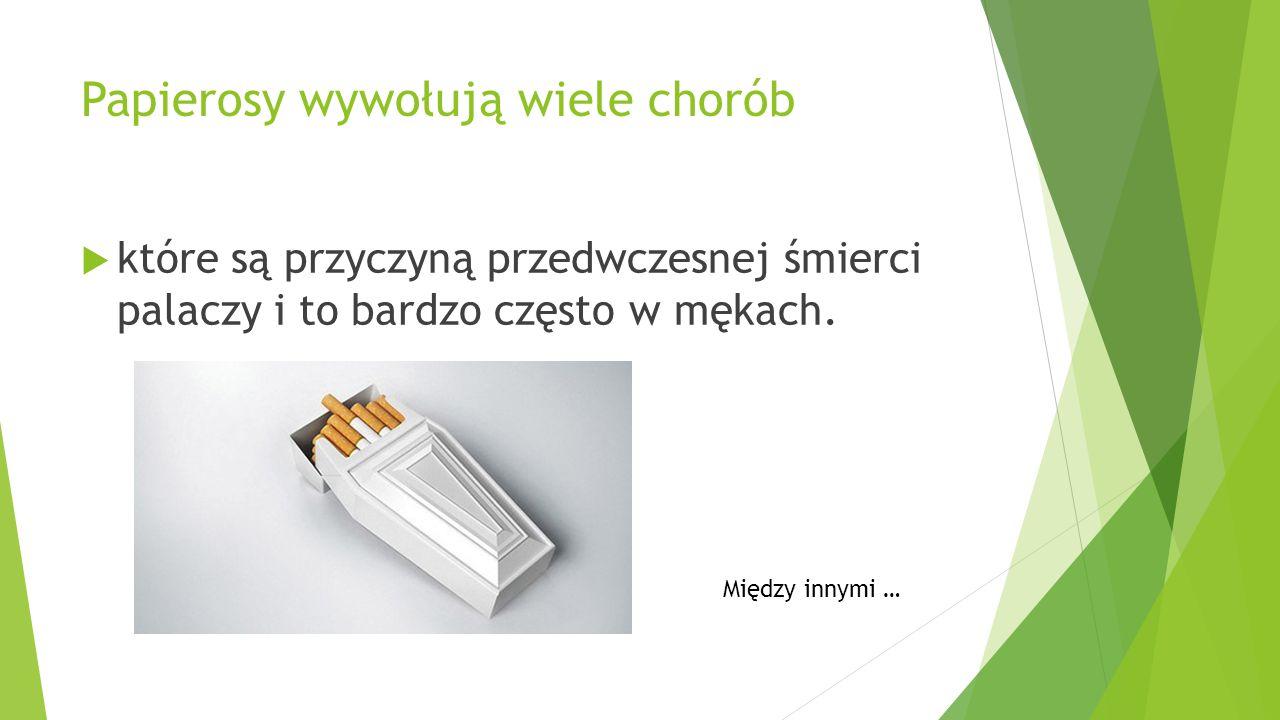 Oprócz dymu i trującej nikotyny Papierosy zawierają substancje smoliste, które osadzają się w płucach.