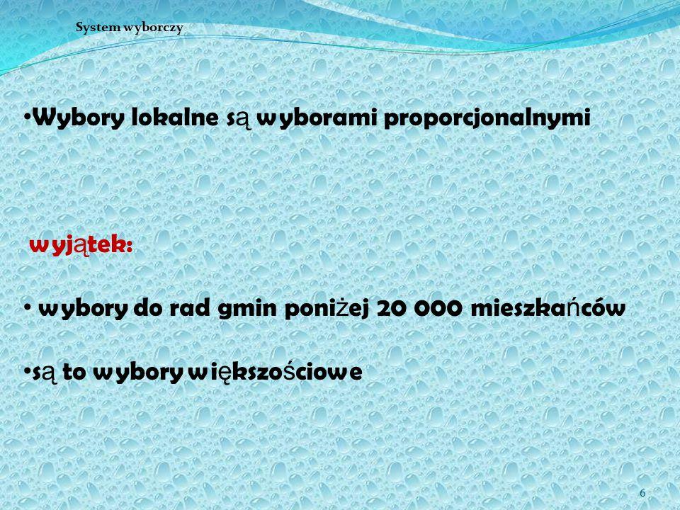 17 Wybory samorządowe w Polsce 2006 2 krok: uło ż enie ilorazów w kolejno ś ci malej ą cej (w nawiasach komitet): 1 - 720 (A) 2 - 480 (C) 3 - 300 (B) 4 - 240 (A) 5 - 160 (C) 6 - 144 (A) 7 - 103 (A) 8 - 100 (B) itd.