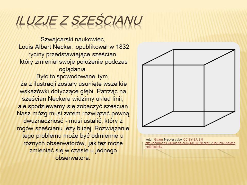 Szwajcarski naukowiec, Louis Albert Necker, opublikował w 1832 ryciny przedstawiające sześcian, który zmieniał swoje położenie podczas oglądania. Było