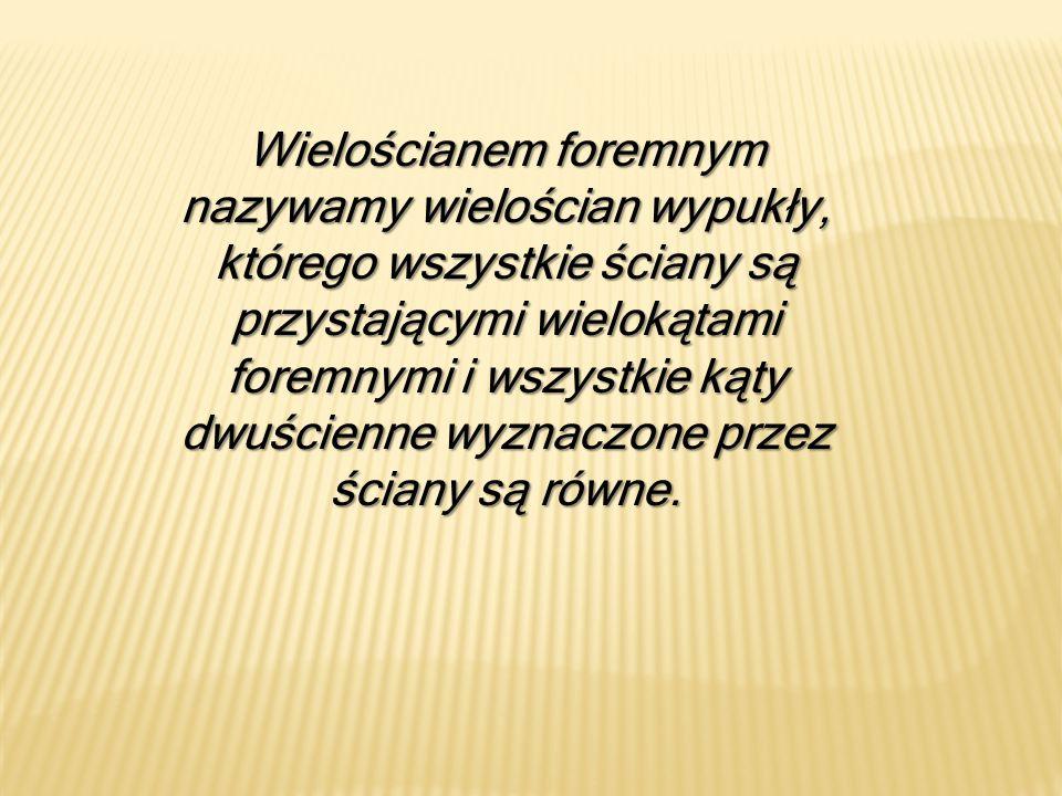Wielościany foremne znali już Pitagorejczycy w VI w.